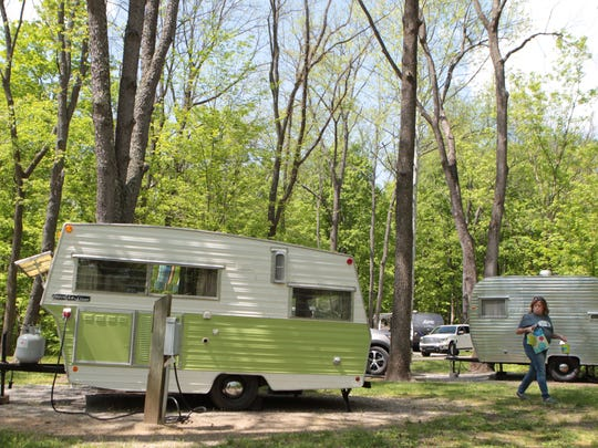 Kim Snider (cq) who rented two vintage camping trailers