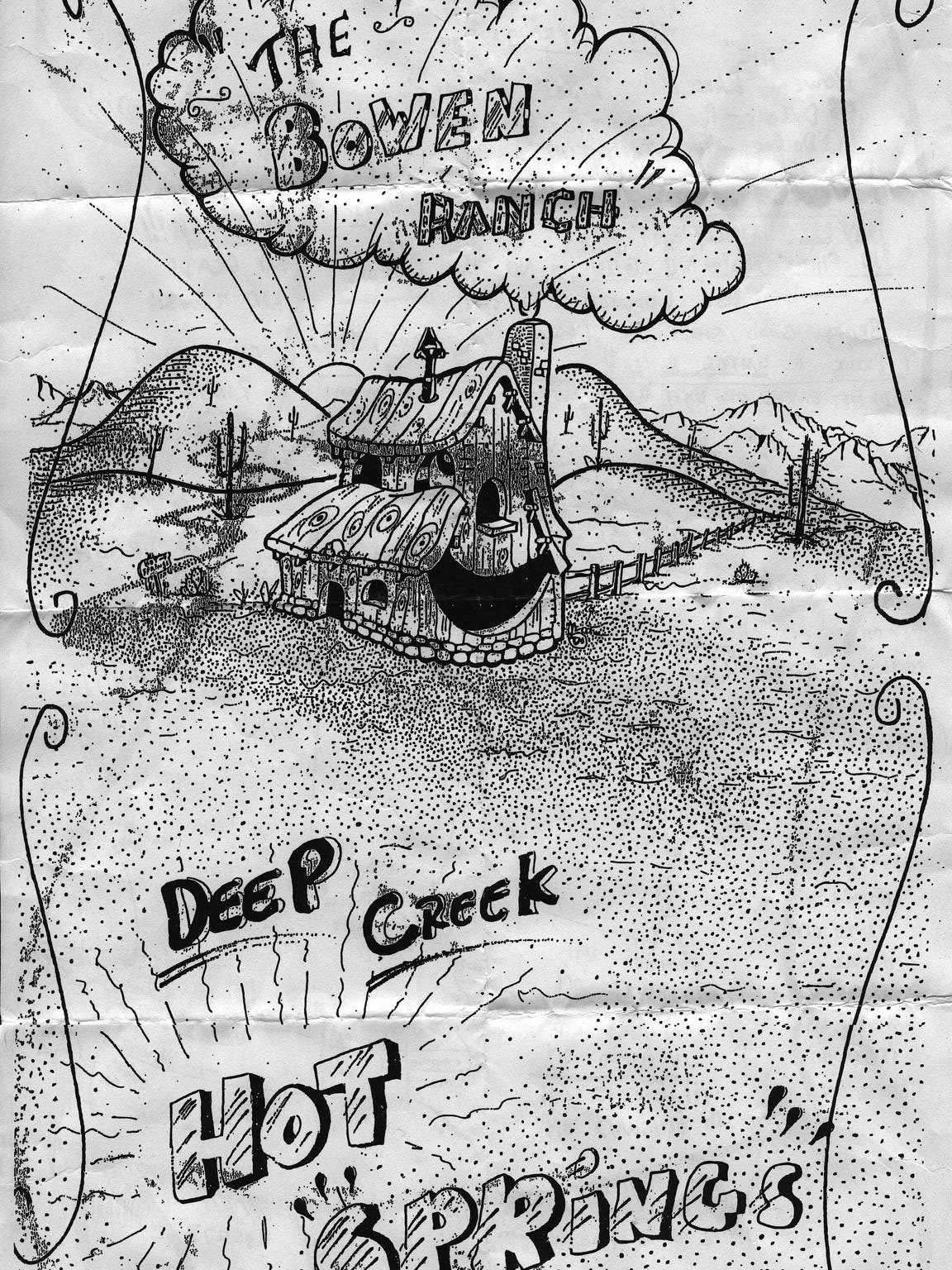 A flyer for Deep Creek Hot Springs.