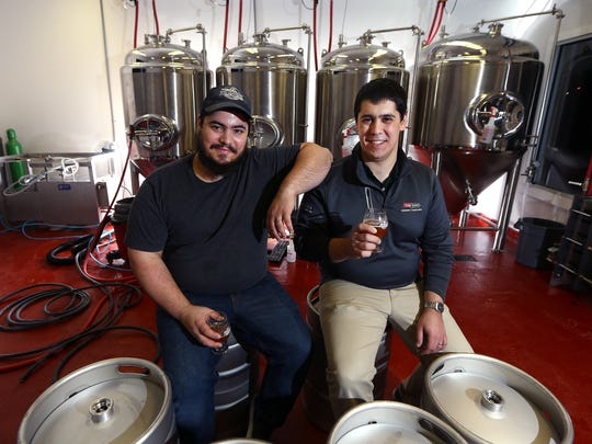 Owners Andrew, l, and Thomas Aslanian, two of three brothers, at their Fort Nonsense Brewing. The brothers are opening the townshipÕs first brewery soon in Denville. January 10, 2018. Denville, NJ.