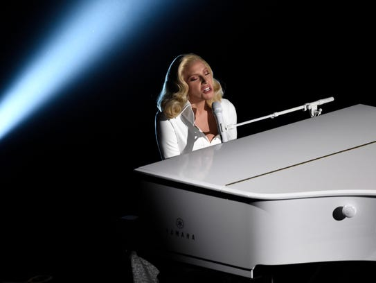 "Lady Gaga performs ""Til It Happens To You,"" nominated"