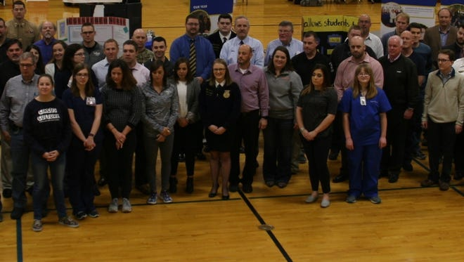 Business professionals who presented at the College & Career Expo on Friday at Groton High School.