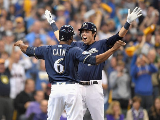 Christian Yelich and Lorenzo Cain helped lead the Milwaukee