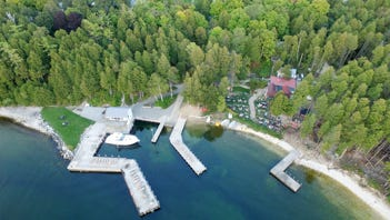 Aerial view of Little Sister Resort, Sister Bay, which was listed for sale July 12, 2018.