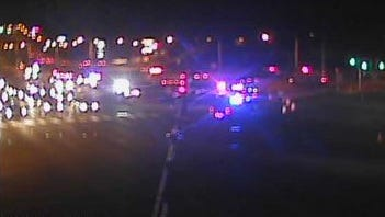 The northbound left lane, southbound left lane and center lanes of U.S. 13 are closed at Hares Corner due to a crash, DelDOT says.