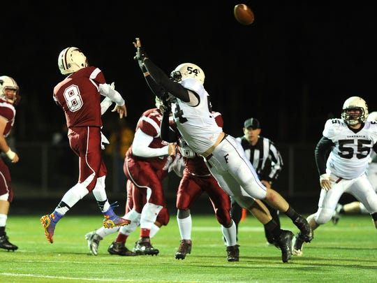 Robert Windsor was co-defensive player of the year and defensive lineman of the year in the VFA South as a senior.