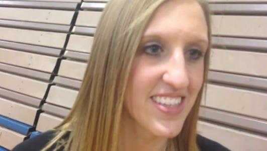 Willamston volleyball coach Sarah Conklin.