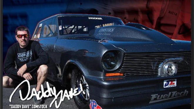 """David """"Daddy Dave"""" Comstock will be at the Redding Dragstrip on Nov. 11."""