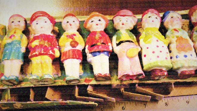 """These bisque porcelain dolls are known as """"immobiles."""""""