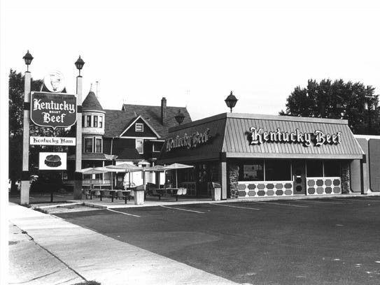 Kentucky Beef on North Main Street in Oshkosh, circa