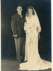 Lt. Edward A. Keenan Jr., MD, and Ione Lacy Keenan on Sept. 16, 1944.