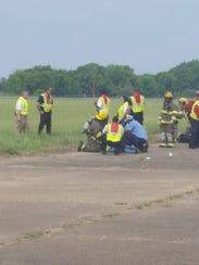 Emergency responders treat mock victims at Monroe Regional