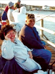George Brooks Jr., seen here with wife Tomi, always loved fishing.
