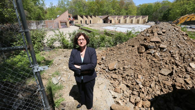 Westchester County Legislator Mary Jane Shimsky, is pictured as construction continues on the pools at Sprain Ridge Park in Yonkers, May 4, 2017.