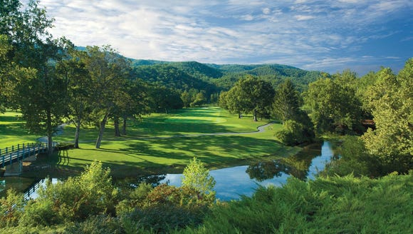 The Greenbrier Resort has five golf courses that suffered