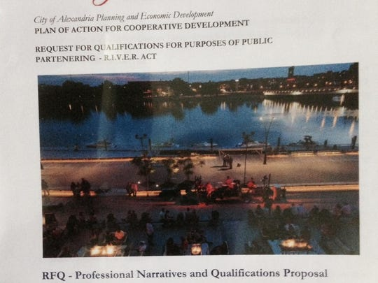 This is the cover of the RADD plan to enhance downtown near the Red River.