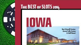 Grand Falls Casino was named the best casino in Iowa by Simply Slots.