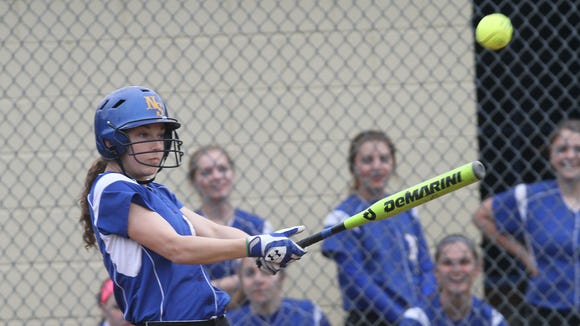 North Salem defeated Putnam Valley 10-1 in a girls softball game at Pequenakonck Elementary School in North Salem May 8, 2014.