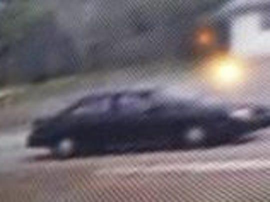 The car of a suspect from a burglary on Robert J. Conlan Blvd. NE
