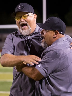 Oñate head football coach Brent Jaquess led the Knights back to the postseason in 2016, including the school's first win over the Mayfield Trojans since 1993 on Sept. 30 at the Field of Dreams.