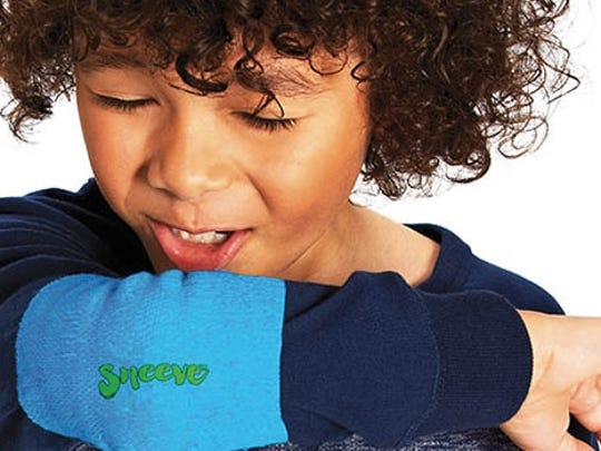 The Sneeve is a disposable elbow cover, helpful for