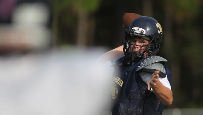 Off a career-high 334 yards passing and 5 touchdowns last week, St. John Paul II senior quarterback Brian Woodend leads the Panthers into a Friday game vs. Maclay.