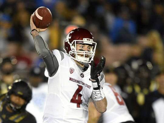 Luke Falk has thrown for more than 9,000 yards in his last two years at Washington State.