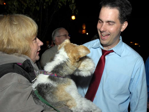 Scott Walker, then the Milwaukee County executive,
