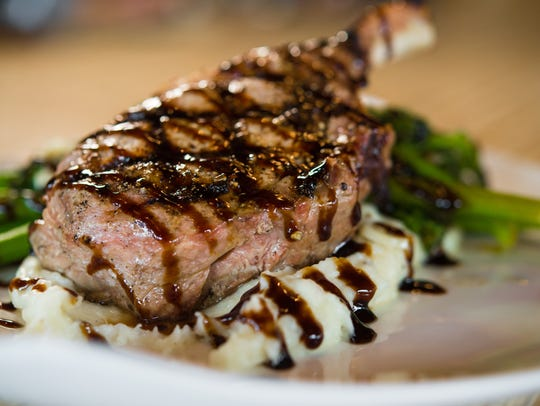A steak entree at the new Simmer restaurant.
