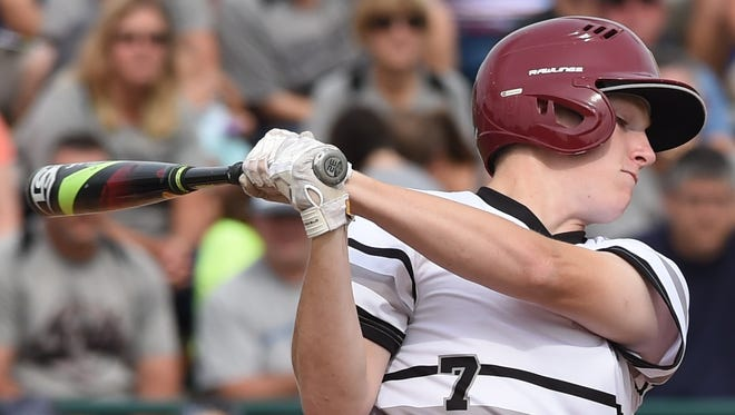 Connor Ayers at bat Saturday for Hoosier North in the Colt World Series at Loeb Stadium.