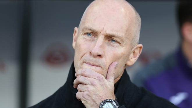 FILE: Bob Bradley Sacked As Swansea City Manager. SWANSEA, WALES - NOVEMBER 26: Bob Bradley, Manager of Swansea City looks on prior to the Premier League match between Swansea City and Crystal Palace at Liberty Stadium on November 26, 2016 in Swansea, Wales.  (Photo by Christopher Lee/Getty Images) ORG XMIT: 647700201 ORIG FILE ID: 625900250