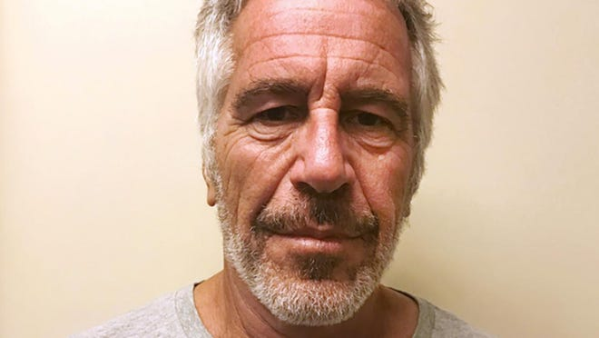 """FILE - This March 28, 2017, file photo, provided by the New York State Sex Offender Registry shows Jeffrey Epstein. A judge denied bail for jailed financier Jeffrey Epstein on sex trafficking charges Thursday, July 18, 2019, saying the danger to the community that would result if the jet-setting defendant was free formed the """"heart of this decision."""" (New York State Sex Offender Registry via AP)"""