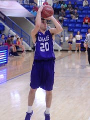 Wylie's Sam King (20) takes a 3-point shot during the