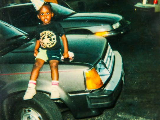 Daphine Renee Perkins' son Marcus Hood  (in photo at