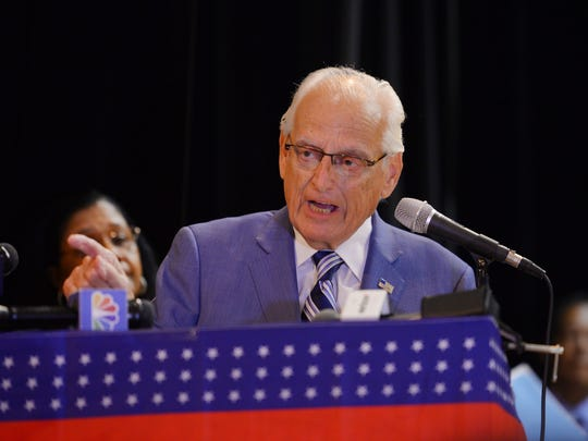 U.S. Congressman William J. Pascrell Jr. speaks during the City of Paterson Inaugural Ceremony 2018 at the International High School in Paterson on 07/01/18.