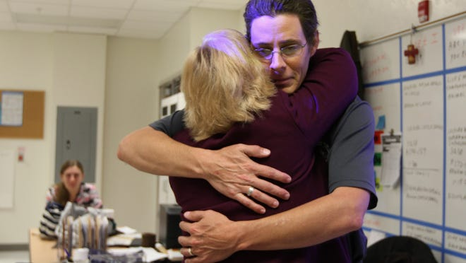 James Marc Jones, an instructor at South Fort Myers High School, cried when he was named Lee County's Teacher of the Year last week. Now he says he's disappointed because the school district is not putting his name into the statewide competition because of criminal charges that were later expunged.