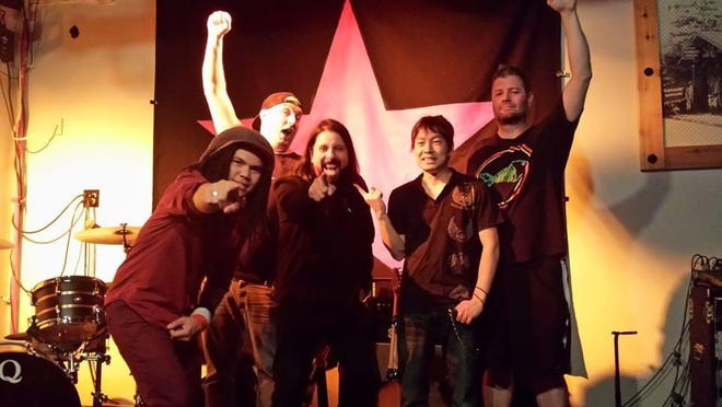 The Faux Fighters, a Foo Fighters tribute band, performs at RockYard Saturday at Fantasy Springs Resort Casino in Indio.