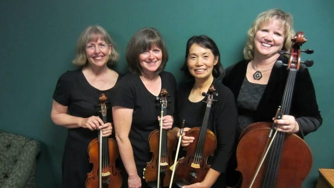 Southern Utah String Quartet includes Ling Yu and Suzanne Stewart, violins, with Leah Brown on cello and Sara Penny on viola.