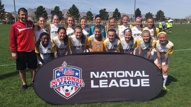 CUP's U14 team went undefeated at the U.S. Youth Soccer National League Girls event in Las Vegas, March 18-20, winning all three games en route to winning the National League's U14 Red Division.