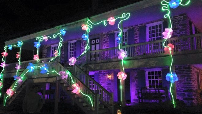 """Van Cortlandt Manor is illuminated for the 2015 """"Lightscapes."""""""