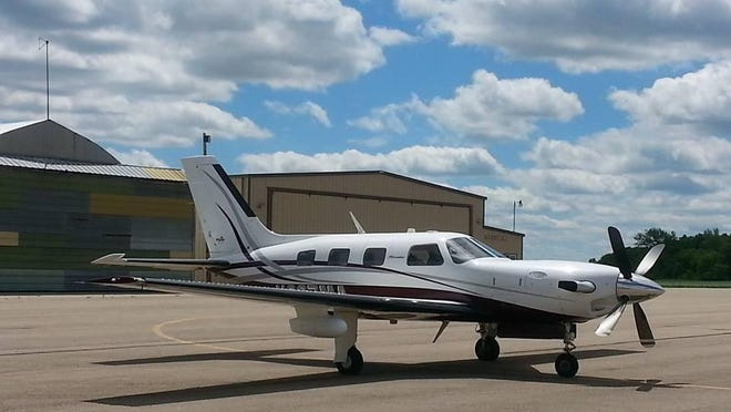This 2007 Piper Meridian airplane is the type of aircraft that will be used to expose young people to aviation careers.