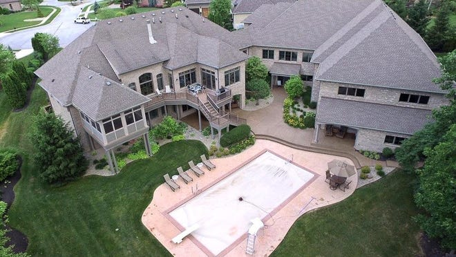 The 13,000-square-foot home in the Claybourne neighborhood in Johnson County was built in 2006.