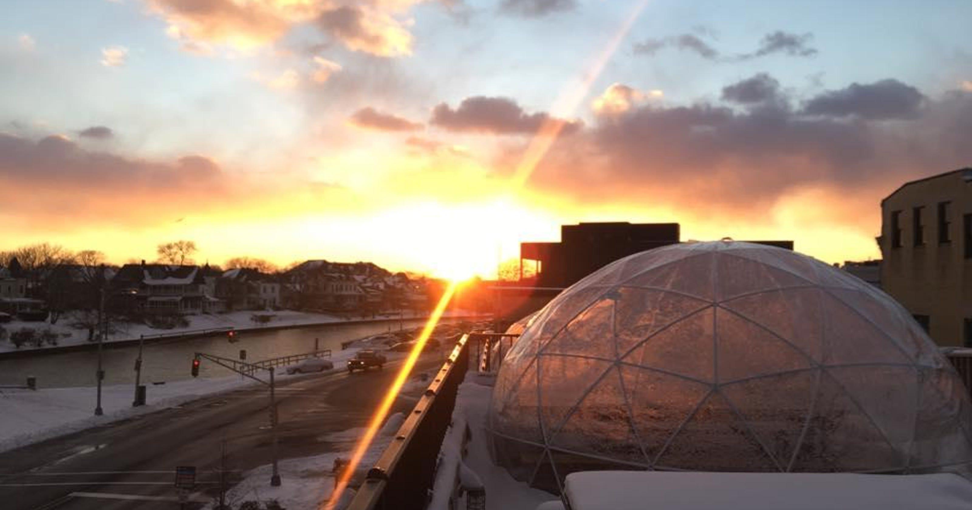 asbury festhalle opens rooftop igloos - Asbury Park Beer Garden