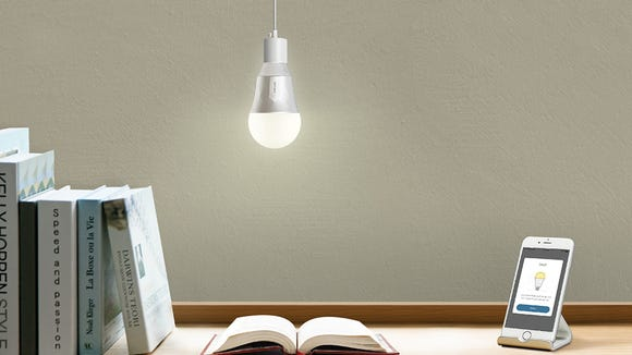 Install smart light bulbs in your rented home.