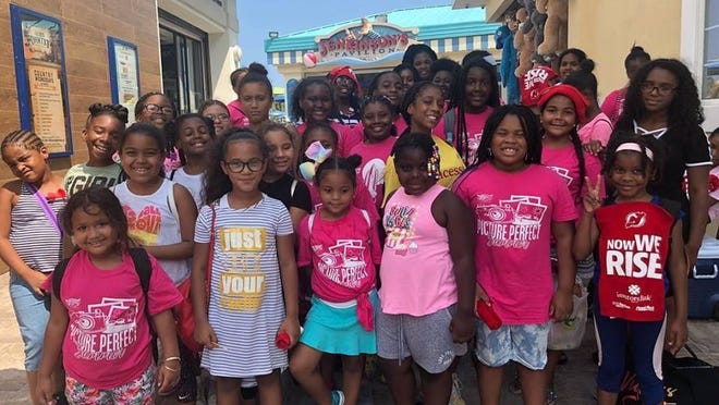 A group of young girls was asked to leave a gift shop in Jenkinson's Aquarium in Point Pleasant Beach.