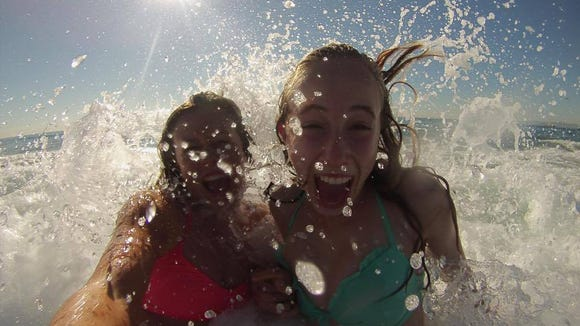 Jess Lesser takes a photo with her GoPro while swimming in the ocean. (Photo courtesy of Jess Lesser)