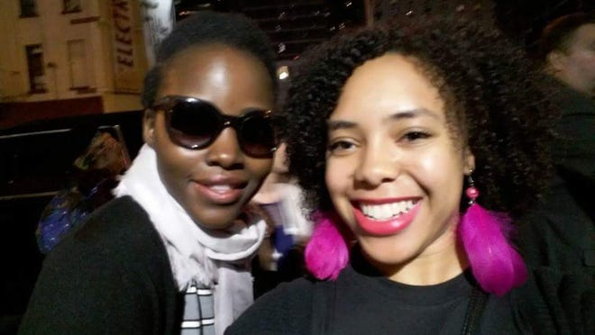 Amber Vernon and Lupita Nyong'o, star of the Broadway show <em>Eclipsed</em>.
