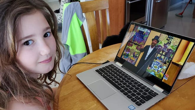 Julianna Loftus of Goshen joins Chabad's Virtual Hebrew School.
