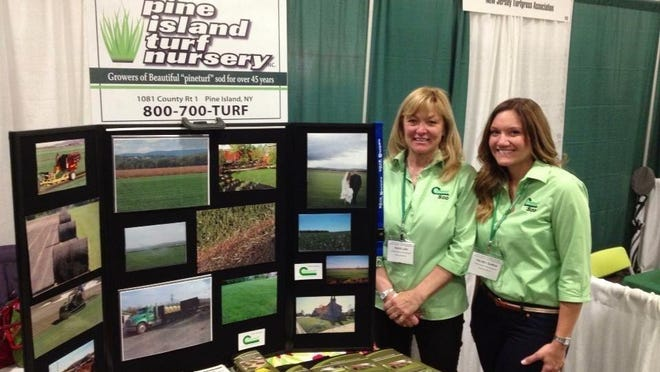 The Orange County Land Trust has tapped Kelsey Lain Gurda, show right with her mother, Shari, at a trade show, to lead a new outreach effort to educate the county's next generation about the land trust's work. The family owns the Pine Island Turf Nursery in Pine Island.