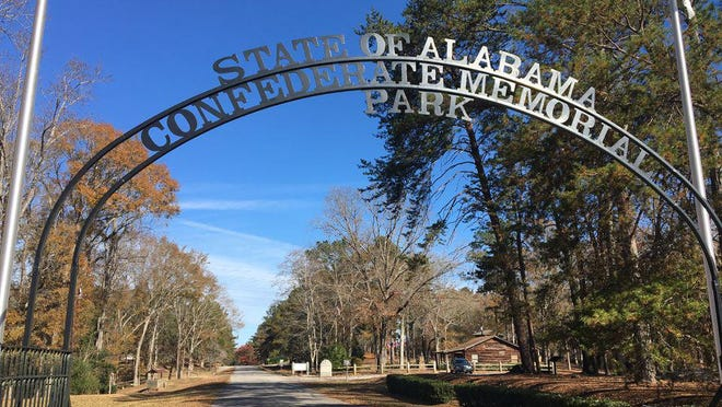 An arch greets visitors to the park off U.S. 31 in Chilton County, near Clanton.