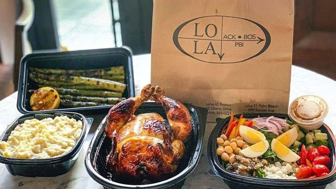 LoLa 41's new chicken feast, which serves two to three people, includes a whole roasted citrus-marinated chicken, garlic mashed potatoes, grilled asparagus and signature LoLa chopped salad.